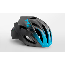 MET Rivale Casco, black/shaded cyan